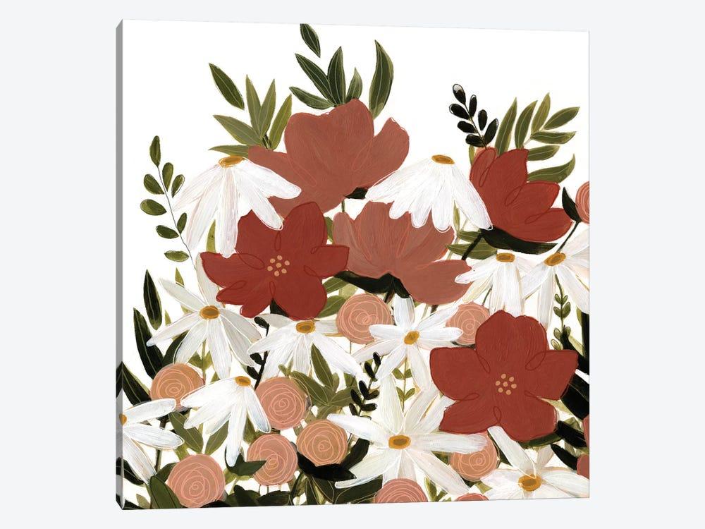 Terracotta Wildflowers II by Emma Scarvey 1-piece Canvas Wall Art