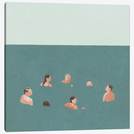 The Swimmers I Canvas Print #EMS137} by Emma Scarvey Canvas Art Print