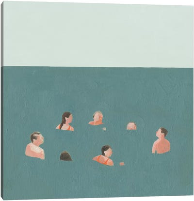 The Swimmers I Canvas Art Print