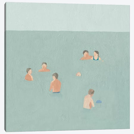 The Swimmers II Canvas Print #EMS138} by Emma Scarvey Canvas Artwork