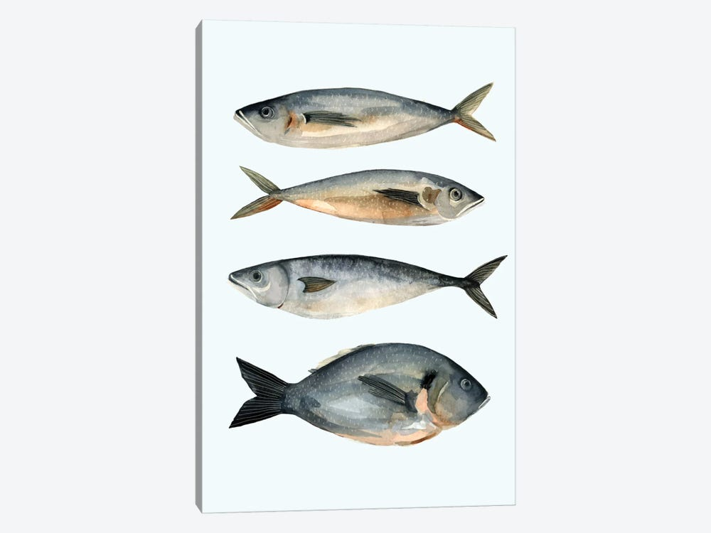 Four Fish I by Emma Scarvey 1-piece Canvas Wall Art
