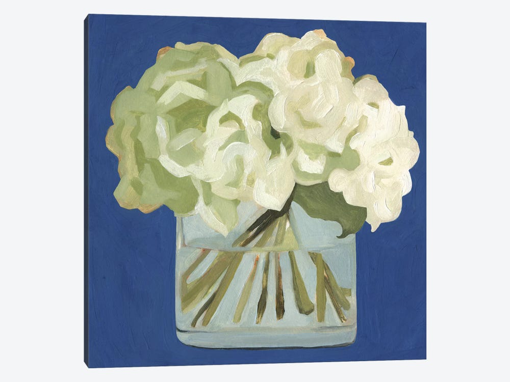 White Hydrangeas II by Emma Scarvey 1-piece Canvas Print
