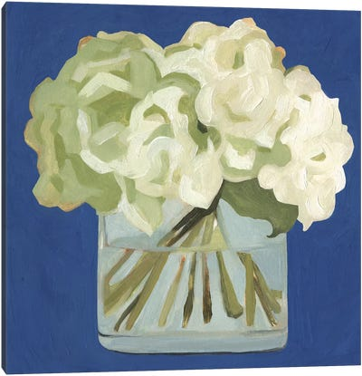 White Hydrangeas II Canvas Art Print
