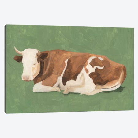 How Now Brown Cow I Canvas Print #EMS154} by Emma Scarvey Art Print
