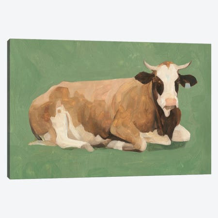 How Now Brown Cow II Canvas Print #EMS155} by Emma Scarvey Canvas Print