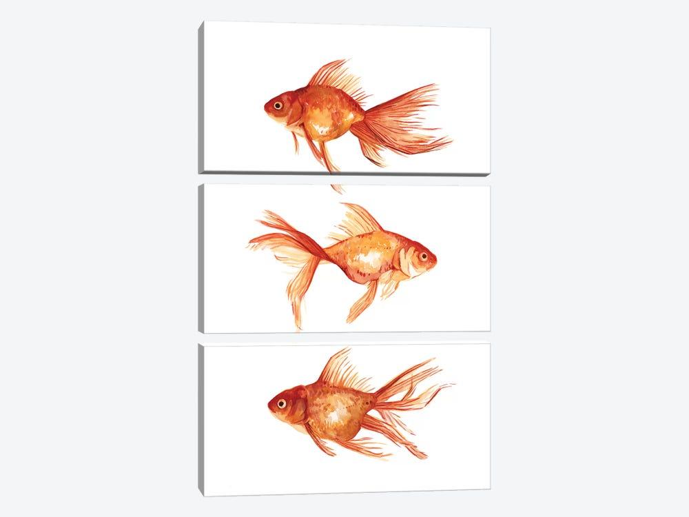 Ornamental Goldfish III by Emma Scarvey 3-piece Art Print