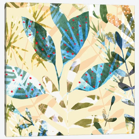 Technicolor Jungle II 3-Piece Canvas #EMS169} by Emma Scarvey Art Print