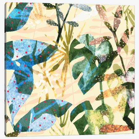 Technicolor Jungle IV Canvas Print #EMS171} by Emma Scarvey Canvas Artwork