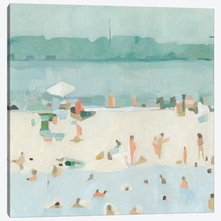 Sea Glass Sandbar I Canvas Print #EMS187} by Emma Scarvey Canvas Art