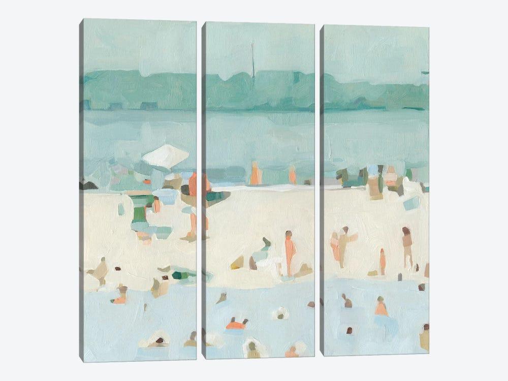 Sea Glass Sandbar I by Emma Scarvey 3-piece Canvas Art