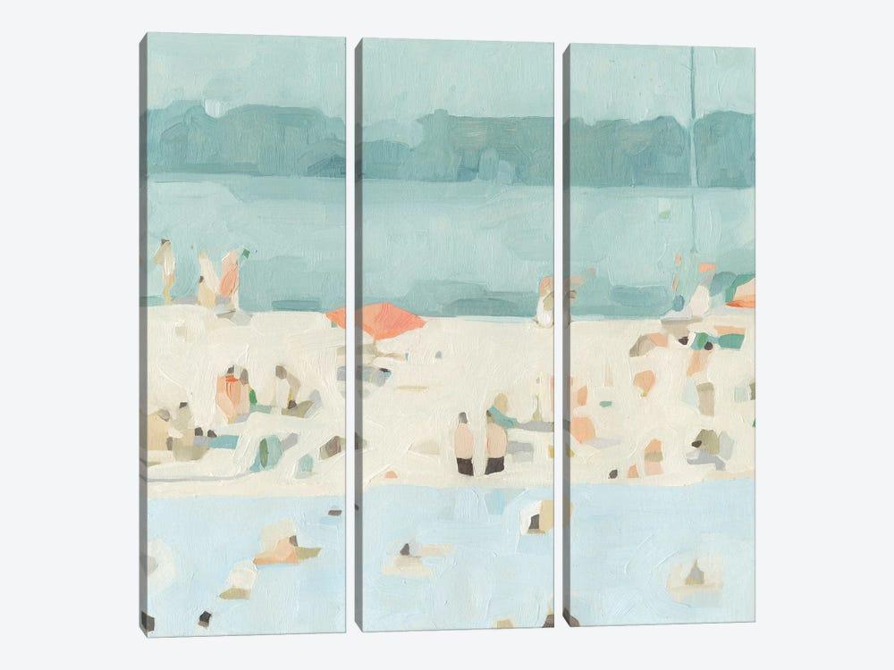 Sea Glass Sandbar II by Emma Scarvey 3-piece Canvas Print