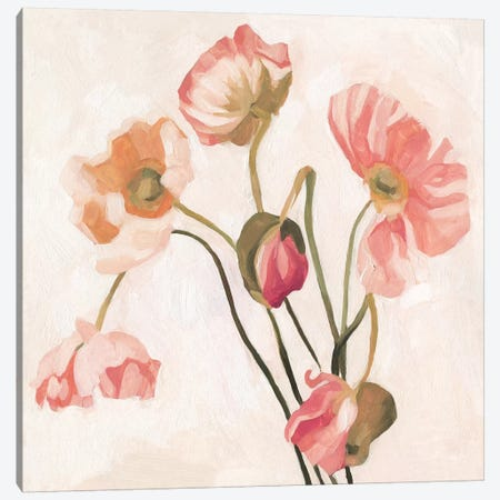 Summer Poppies III Canvas Print #EMS191} by Emma Scarvey Canvas Artwork