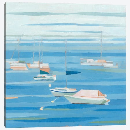 Summer Regatta I Canvas Print #EMS192} by Emma Scarvey Canvas Art
