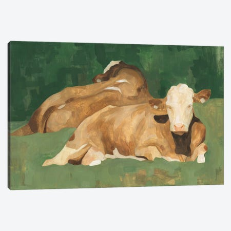 Bucolic Sunday I Canvas Print #EMS196} by Emma Scarvey Canvas Print