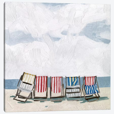 Beach Trip I 3-Piece Canvas #EMS204} by Emma Scarvey Art Print