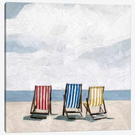 Beach Trip II 3-Piece Canvas #EMS205} by Emma Scarvey Art Print