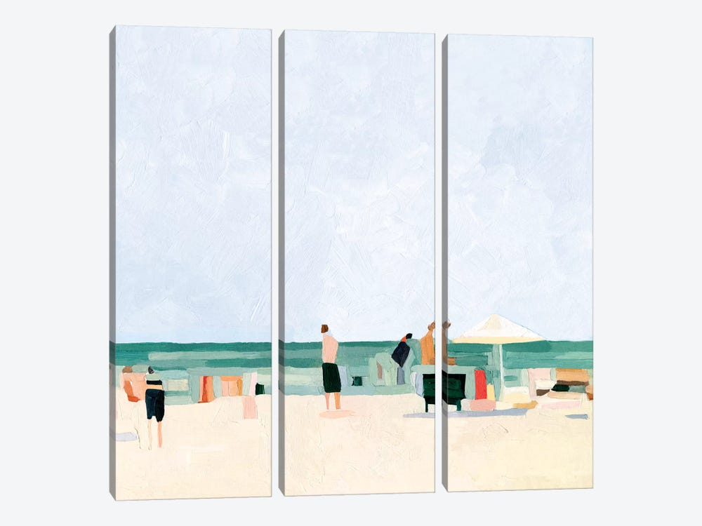 Family Vacation I by Emma Scarvey 3-piece Canvas Print