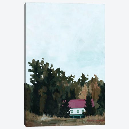 Forest Cottage I Canvas Print #EMS224} by Emma Scarvey Canvas Print