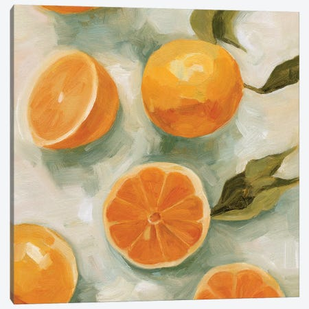 Fresh Citrus I Canvas Print #EMS230} by Emma Scarvey Canvas Art Print