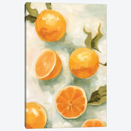 Fresh Citrus V Canvas Print #EMS234} by Emma Scarvey Canvas Artwork