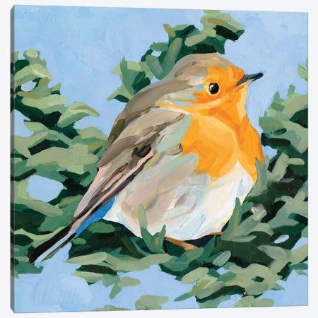 Painterly Bird I Canvas Print #EMS242} by Emma Scarvey Canvas Wall Art