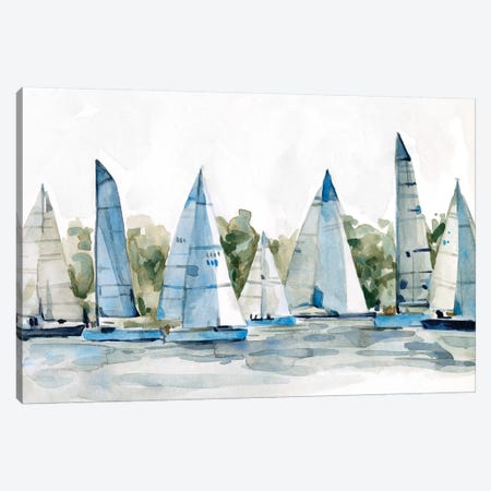 Pastel Marina I 3-Piece Canvas #EMS244} by Emma Scarvey Canvas Print