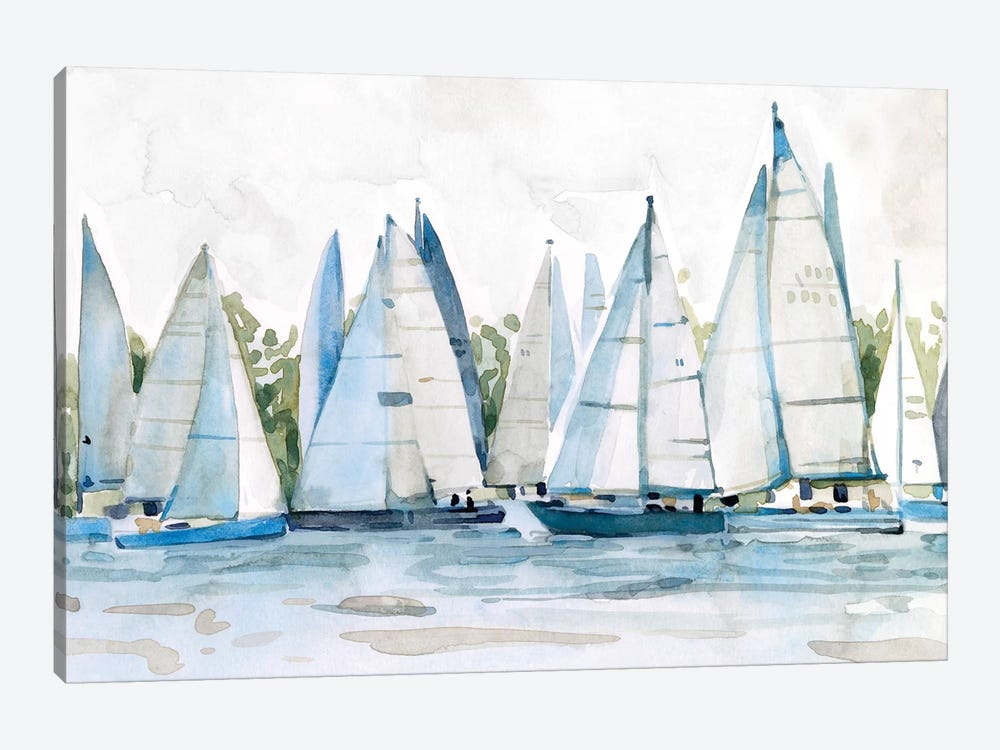 Pastel Marina II by Emma Scarvey 1-piece Canvas Artwork