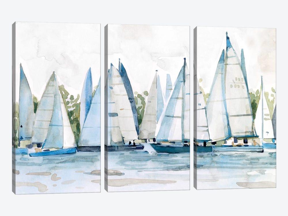 Pastel Marina II by Emma Scarvey 3-piece Canvas Artwork