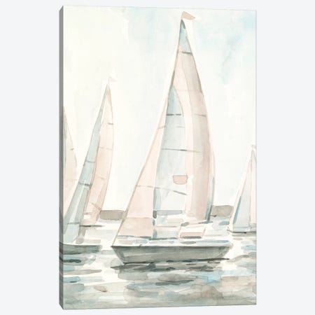 Soft Sail I Canvas Print #EMS248} by Emma Scarvey Canvas Art