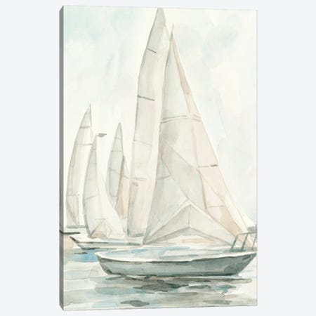 Soft Sail II 3-Piece Canvas #EMS249} by Emma Scarvey Canvas Art