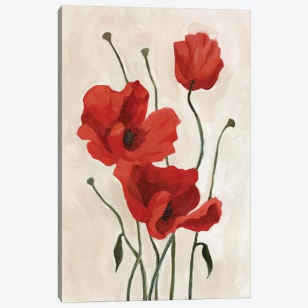 Poppy Bouquet II Canvas Print #EMS24} by Emma Scarvey Canvas Art