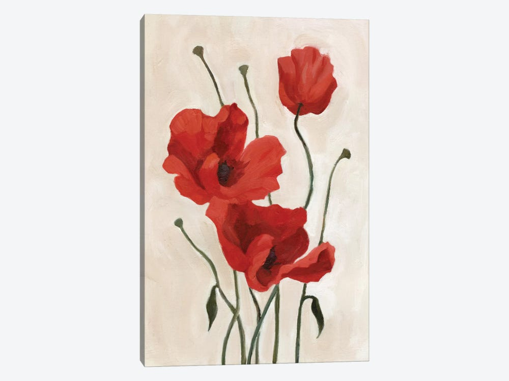 Poppy Bouquet II by Emma Scarvey 1-piece Canvas Artwork