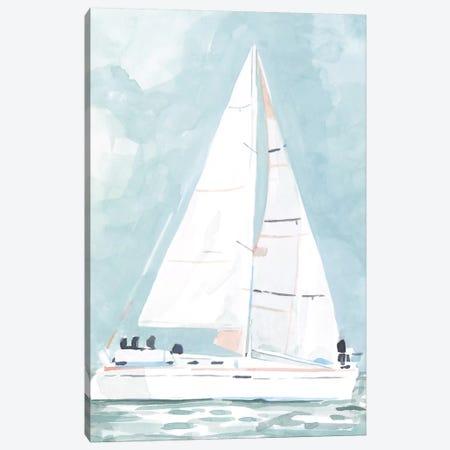 Soft Sailboat I 3-Piece Canvas #EMS250} by Emma Scarvey Canvas Print