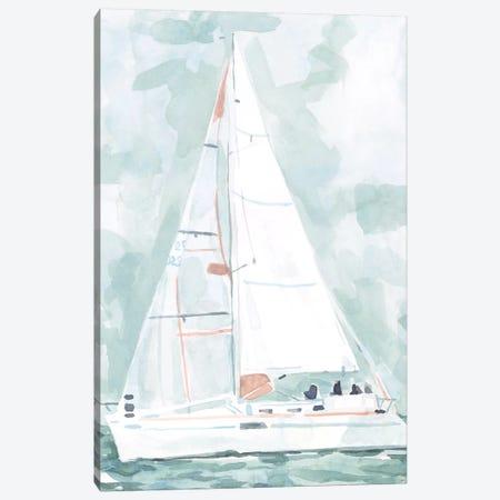 Soft Sailboat II Canvas Print #EMS251} by Emma Scarvey Canvas Art Print