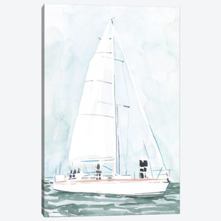 Soft Sailboat III Canvas Print #EMS252} by Emma Scarvey Canvas Art Print