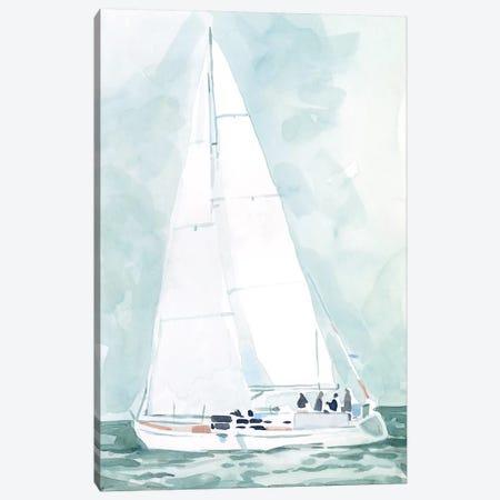 Soft Sailboat IV Canvas Print #EMS253} by Emma Scarvey Art Print
