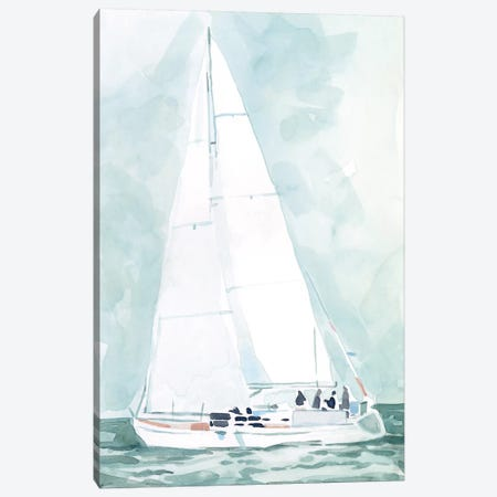 Soft Sailboat IV 3-Piece Canvas #EMS253} by Emma Scarvey Art Print