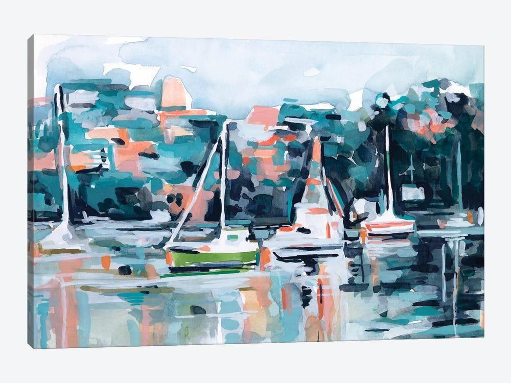 Watercolor Bay I by Emma Scarvey 1-piece Canvas Artwork