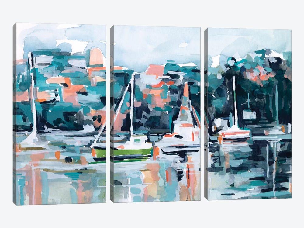 Watercolor Bay I by Emma Scarvey 3-piece Canvas Art