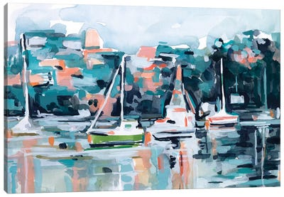 Watercolor Bay I Canvas Art Print