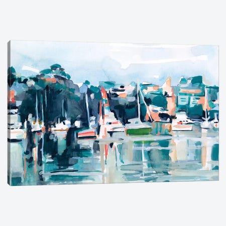 Watercolor Bay II Canvas Print #EMS257} by Emma Scarvey Canvas Art