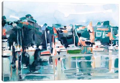 Watercolor Bay II Canvas Art Print
