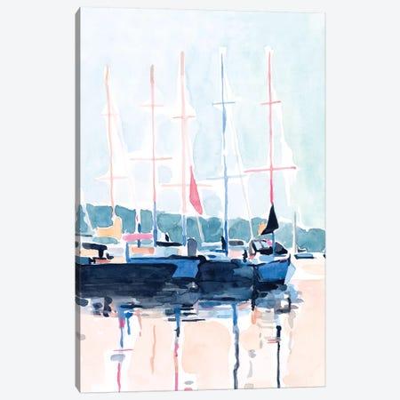 Watercolor Boat Club I 3-Piece Canvas #EMS258} by Emma Scarvey Canvas Art Print