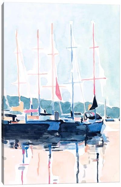 Watercolor Boat Club I Canvas Art Print