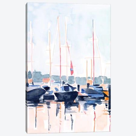 Watercolor Boat Club II Canvas Print #EMS259} by Emma Scarvey Canvas Art Print