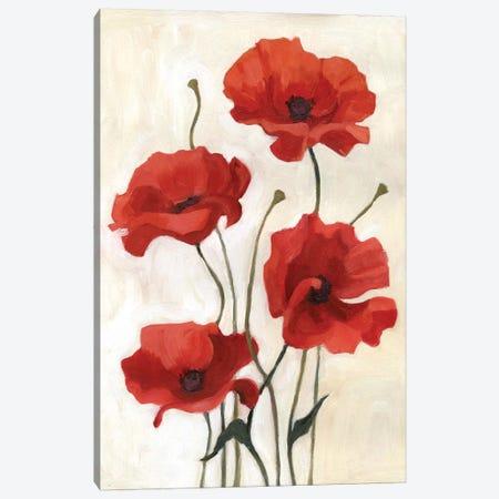 Poppy Bouquet III Canvas Print #EMS25} by Emma Scarvey Canvas Wall Art