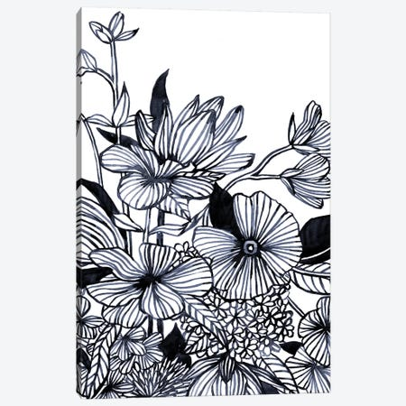 Wildflower Tangle I Canvas Print #EMS264} by Emma Scarvey Canvas Print