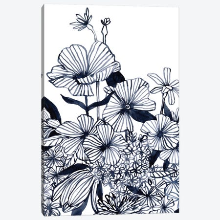 Wildflower Tangle II Canvas Print #EMS265} by Emma Scarvey Canvas Art Print