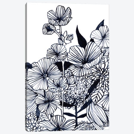 Wildflower Tangle III Canvas Print #EMS266} by Emma Scarvey Art Print