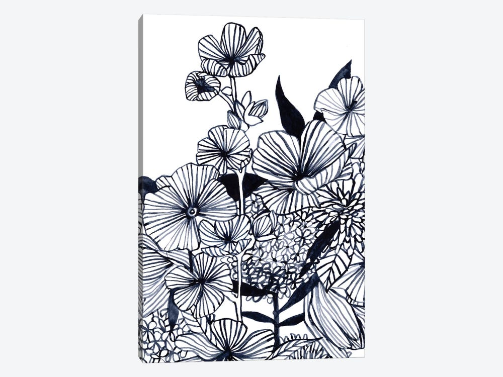 Wildflower Tangle III by Emma Scarvey 1-piece Canvas Art Print